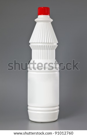 Detergent bottle. Cleaning products. Isolated - stock photo