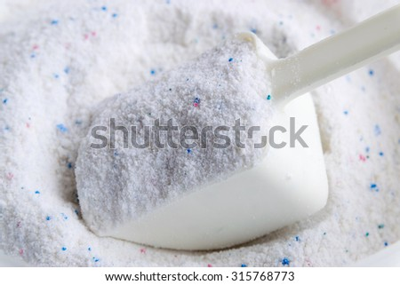 Detergent for washing clothes and cleaning. - stock photo