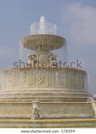 Detroit Bel Isle Fountain - stock photo