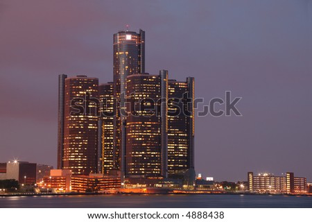 Detroit City Skyline - stock photo