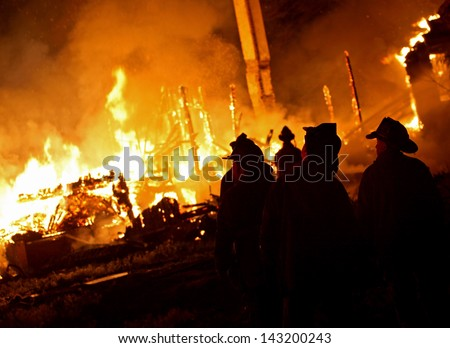 Detroit Firefighters. - stock photo