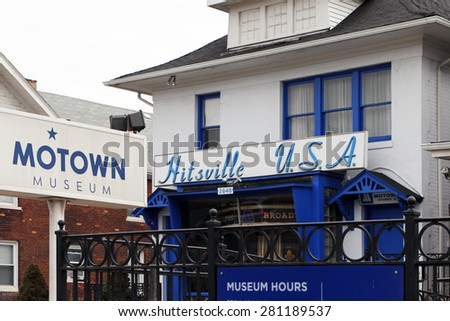 DETROIT, MI-MAY, 2015:  Original home of Motown Records, founded by Barry Gordy.   - stock photo