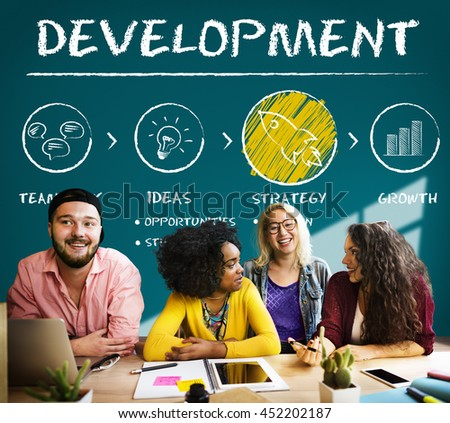 Development Business Plan Growth Strategy Concept - stock photo