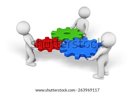 Development. 3D. The mechanism - stock photo