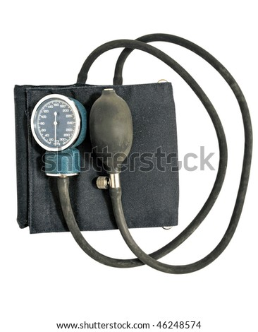 Device of measuring of pressure, isolation on a white background - stock photo