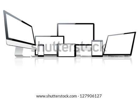 Device set. Vector version also available in gallery. - stock photo