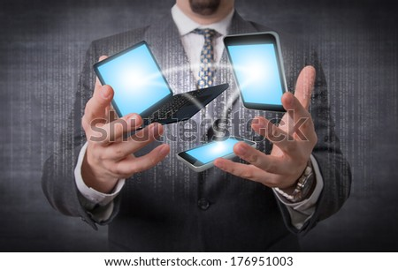 Devices connection - stock photo