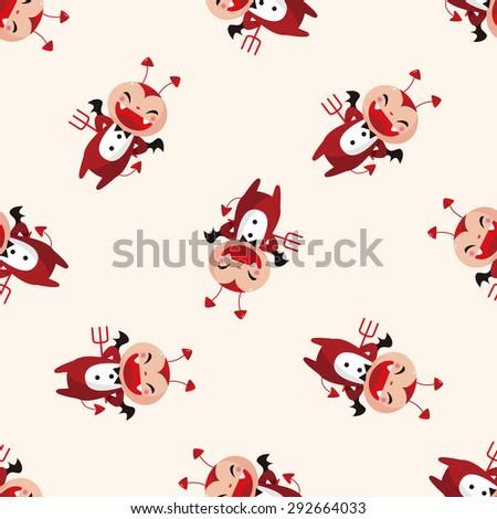 devil , cartoon sticker icon - stock photo