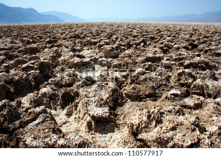 Devil's Golf Course, Death Valley National Park, California, USA - stock photo