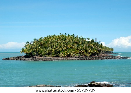 Devil's island in French Guiana where Dreyfus was exiled - stock photo