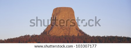 Devil's Tower National Monument, Wyoming - stock photo