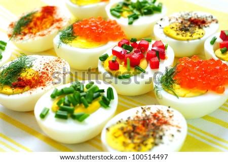 Deviled eggs - stock photo