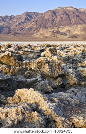 Devils golf course in the Death Valley, California. - stock photo