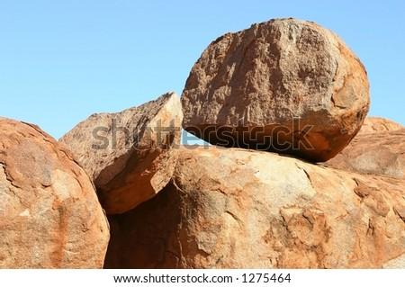 devils marbles australia - stock photo