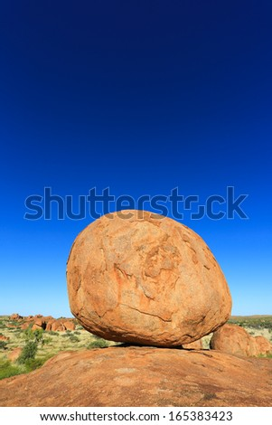 Devils Marbles , Northern Territory Australia - stock photo