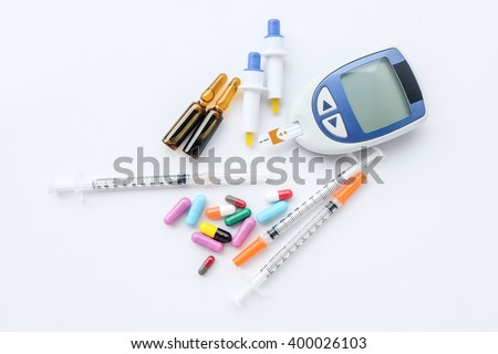 diabetes and medical and medicine - stock photo