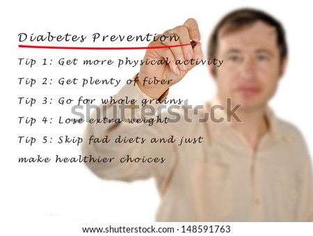 Diabetes prevention - stock photo