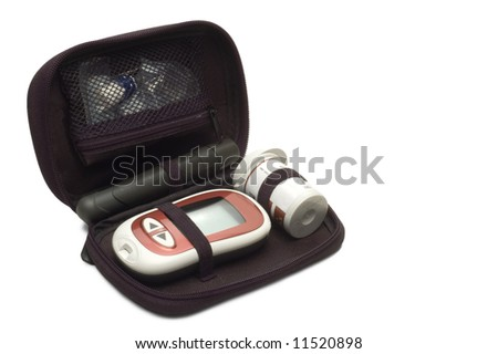 Diabetic Glucose Kit - stock photo