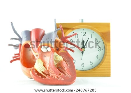diagnosis of human heart  - stock photo