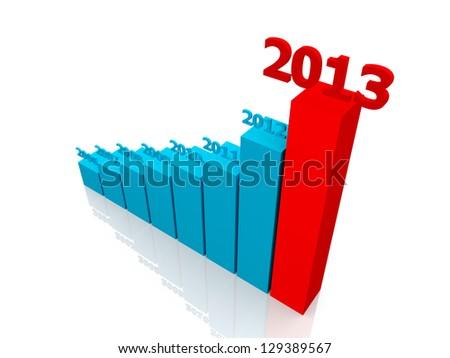 Diagram of business success - stock photo