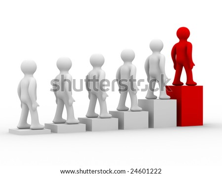 diagram of growth. 3D image. Isolated illustration - stock photo