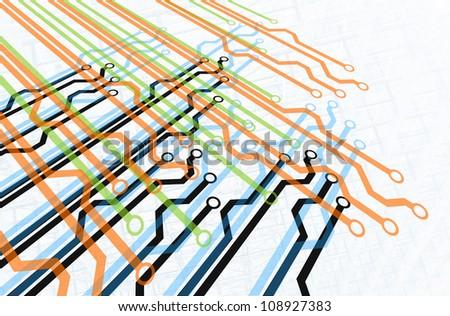 Diagram Paths - stock photo