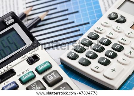 Diagram Report - stock photo