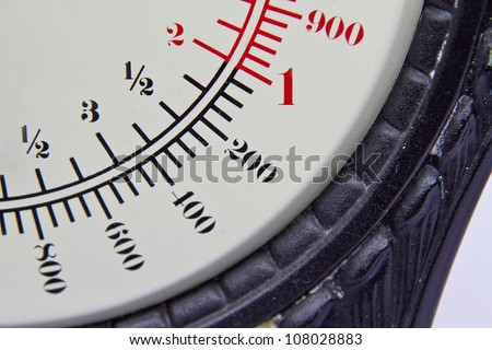 Dial of an old scale - stock photo