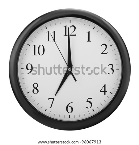 dial wall clock - stock photo