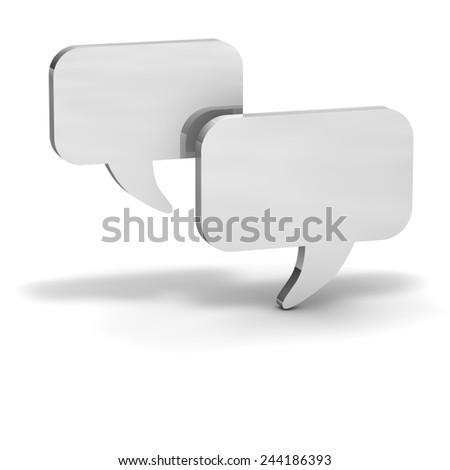 Dialog balloons White chat - stock photo