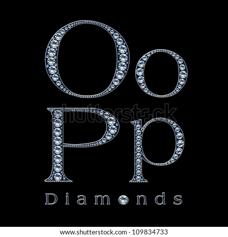 diamond alphabet - stock photo