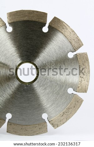 Diamond disc for angle grinders isolated on white background. - stock photo