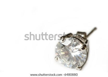 Diamond Earring - stock photo