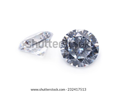 diamond isolated on white background - stock photo