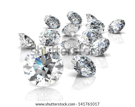 diamond jewel (high resolution 3D image) - stock photo