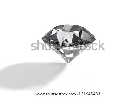 Diamond jewel on background. High quality 3d render - stock photo