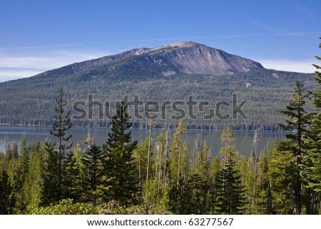 Diamond Lake, Oregon with Mount Bailey in the background - stock photo