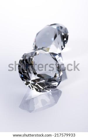Diamond on white background - stock photo