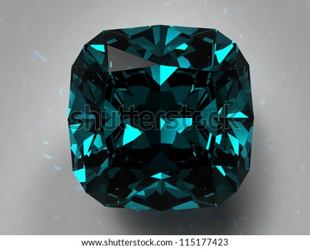 diamond on white background with high quality - stock photo