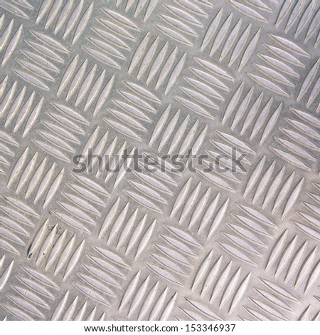 Diamond steel metal sheet useful as background - stock photo