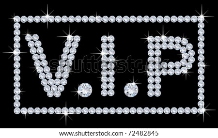 diamond v.i.p background - stock photo