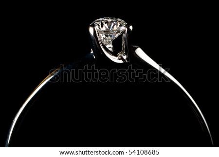 diamond wedding ring - stock photo