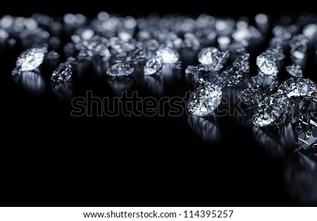 Diamonds background with space for text - stock photo