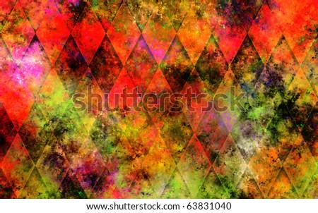 Diamonds Color Explosion - stock photo