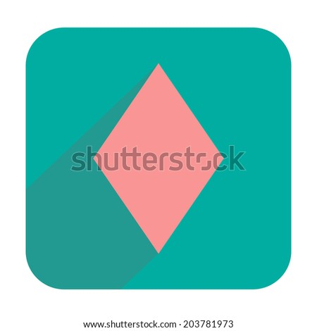 Diamonds icon - stock photo