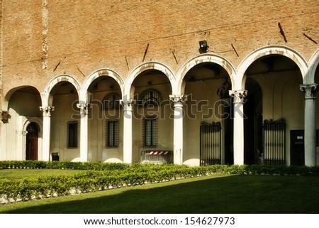 Diamonds Palace in Ferrara. Italy - stock photo