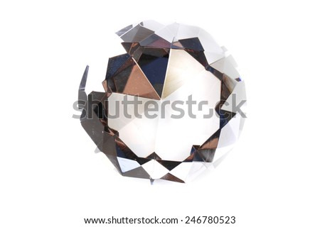 diamons isolated on the white background - stock photo