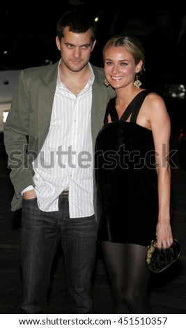 Diane Kruger and Joshua Jackson at the Global Green USA Pre-Oscar Celebration to Benefit Global Warming held at the Avalon in Hollywood, USA on February 21, 2007. - stock photo