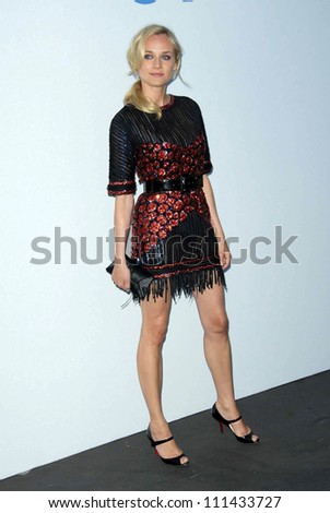Diane Kruger  at the 2007/2008 Chanel Cruise Show Presented by Karl Lagerfeld. Hanger 8, Santa Monica, CA. 05-18-07 - stock photo