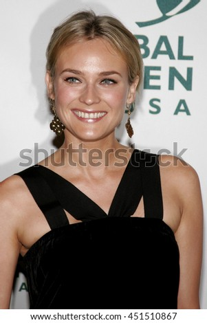 Diane Kruger at the Global Green USA Pre-Oscar Celebration to Benefit Global Warming held at the Avalon in Hollywood, USA on February 21, 2007. - stock photo